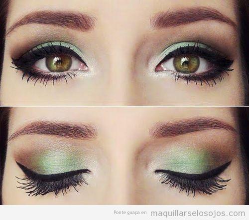 maquillaje verde ojos