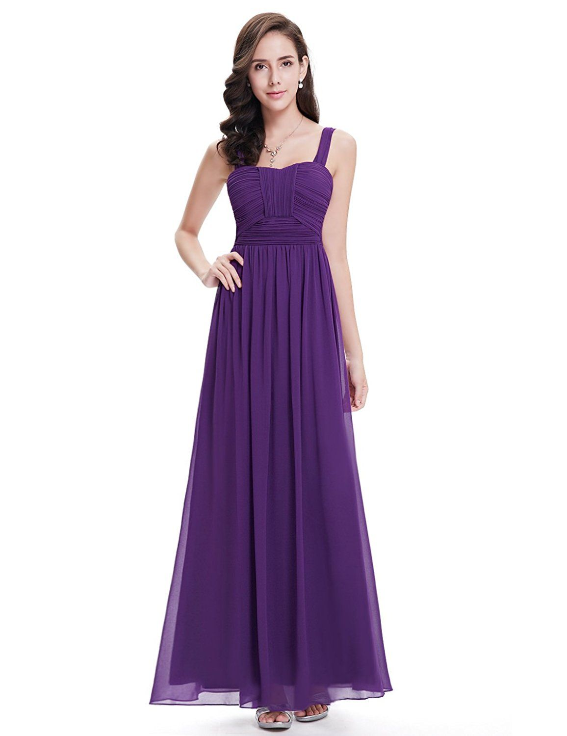 Ever pretty sleeveless ruched bust empire waist long formal party