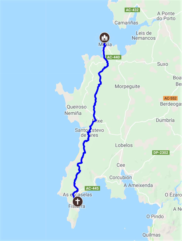 The Camino Finisterre To Muxía Extension 28 2 Kilometers Camino De Santiago The Camino Pilgrimage