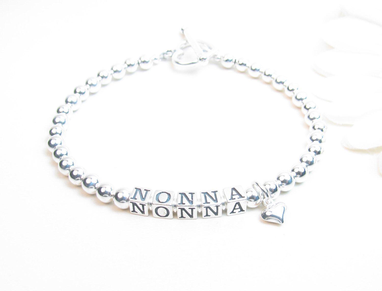 Grandmother Bracelet Nonna Sterling Silver Name