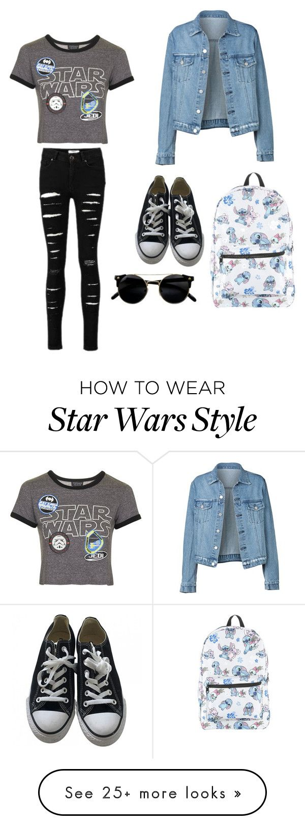 """""""Untitled #1"""" by livina2001 on Polyvore featuring Topshop, Converse and Disney"""