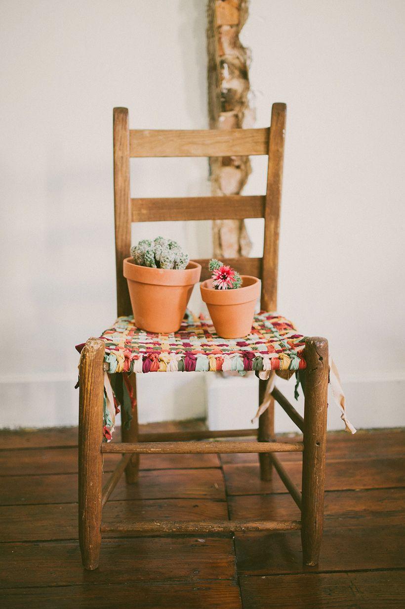 Idee fai da te per riciclare vecchie sedie | Sedia legno