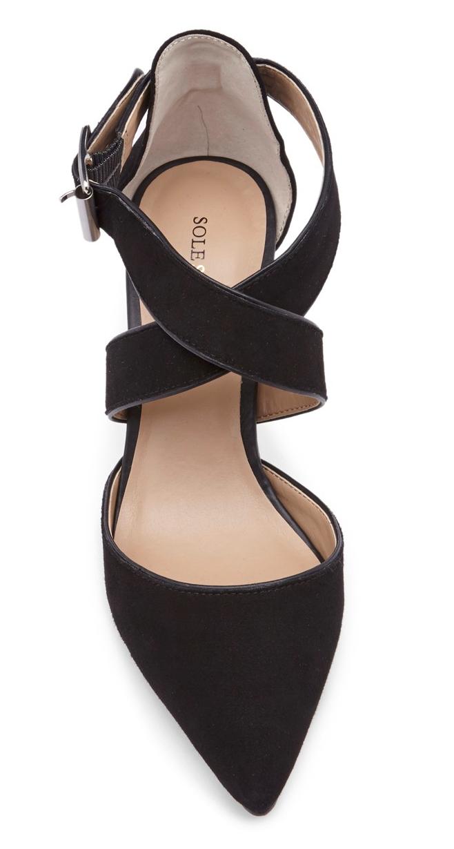 Criss cross heels