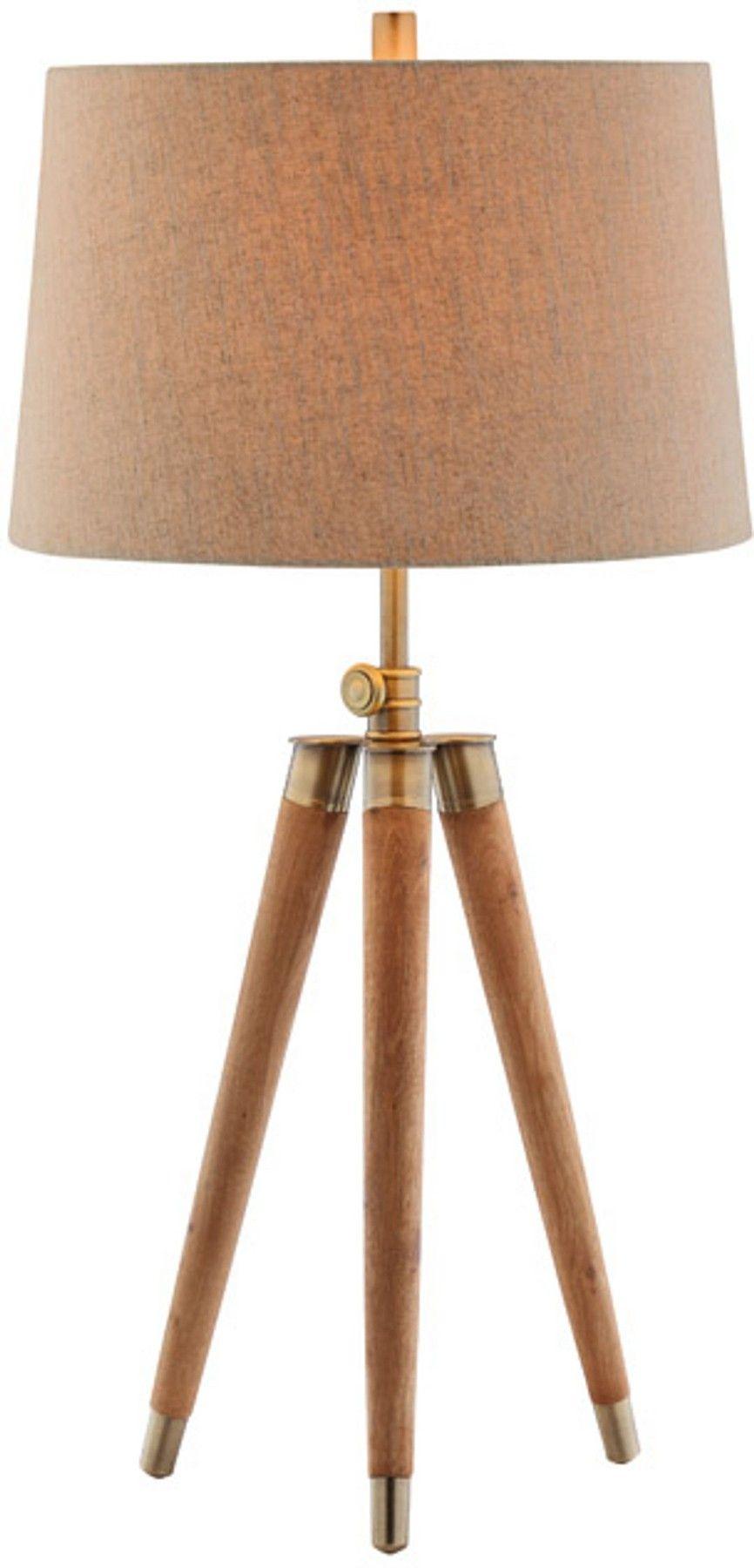 Dreyer Wood Table Lamp. #tripod #lamp #midcentury