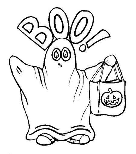 fantasma para imprimir y colorear de halloween | halloween ...