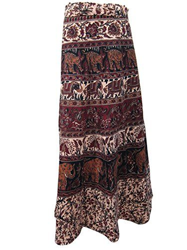 Wrap Skirt- Brown TIGER ELEPHANT Print Cotton Indian Maxi Skirts, Gift for Girls Mogul Interior http://www.amazon.com/dp/B00RL5ZPJ8/ref=cm_sw_r_pi_dp_AwOOub19DG852