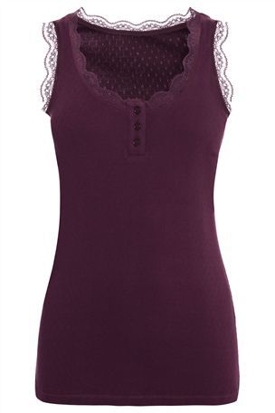 Buy Berry Pointelle Vest from the Next UK online shop