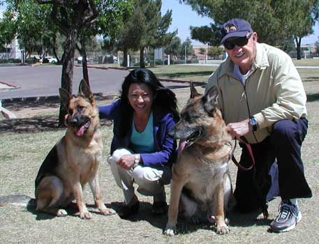 Gene Hackman His Wife Betsy Their Gsds German Sheperd Dogs