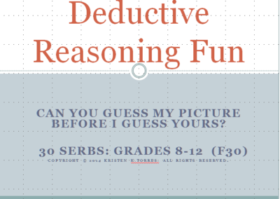 Deductive Reasoning Fun-35 Serbs from Go Fish Blitz and Teletherapy Source on TeachersNotebook.com -  (4 pages)  - deductive reasoning, barrier game, online therapy