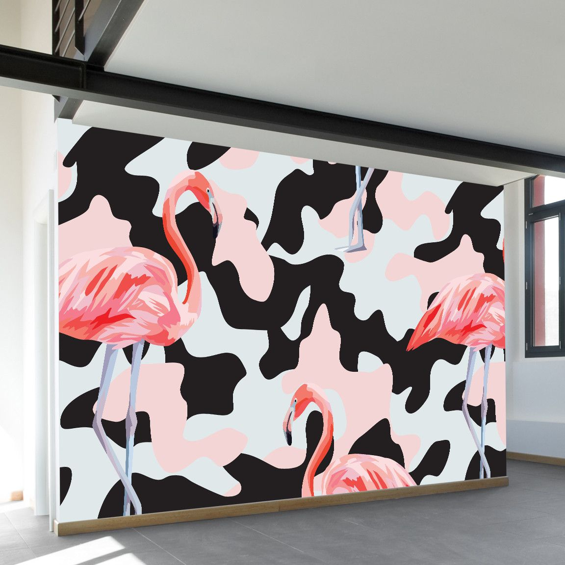 Flamingo camo wall mural wall murals flamingo and walls flamingo camo wall mural amipublicfo Choice Image