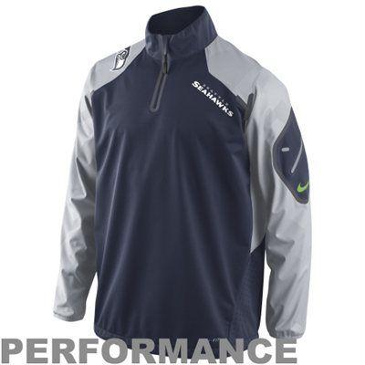 finest selection cad28 abdbb Nike Seattle Seahawks Fly Rush Half Zip Performance Jacket ...