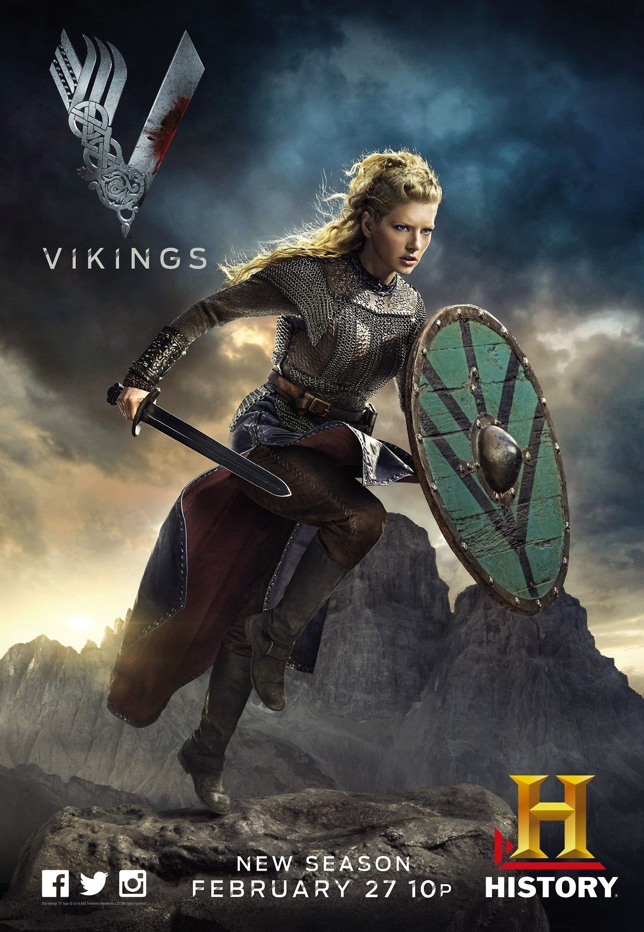 Vikings Tv Series Vikings Lagertha Lagherta Vikings E Vikings