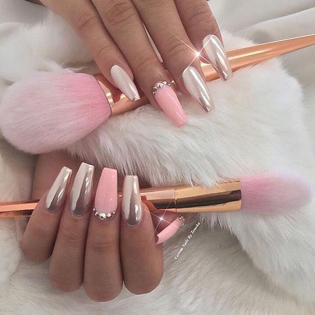 90+ Glamour Chrome Nails Trends 2017 | Uñas gelish, Uñas perfectas y ...