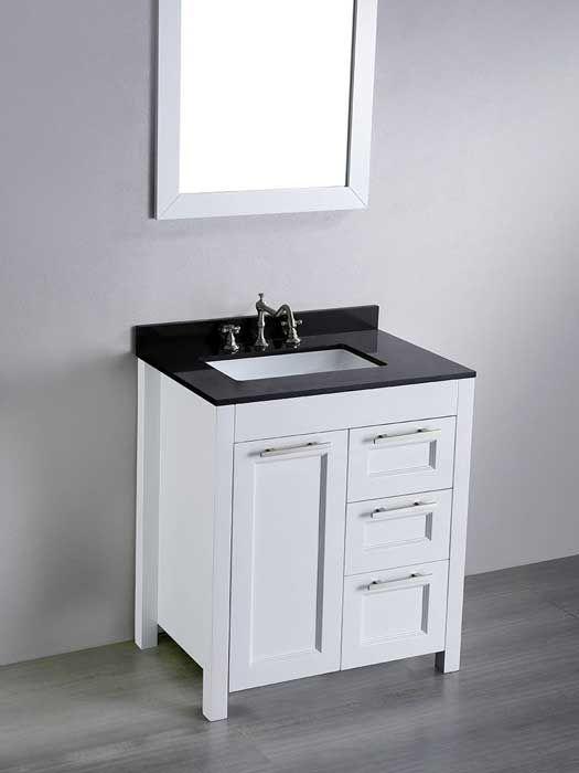 What S The Standard Depth Of A Bathroom Vanity White Vanity Bathroom Single Bathroom Vanity 30 Inch Bathroom Vanity