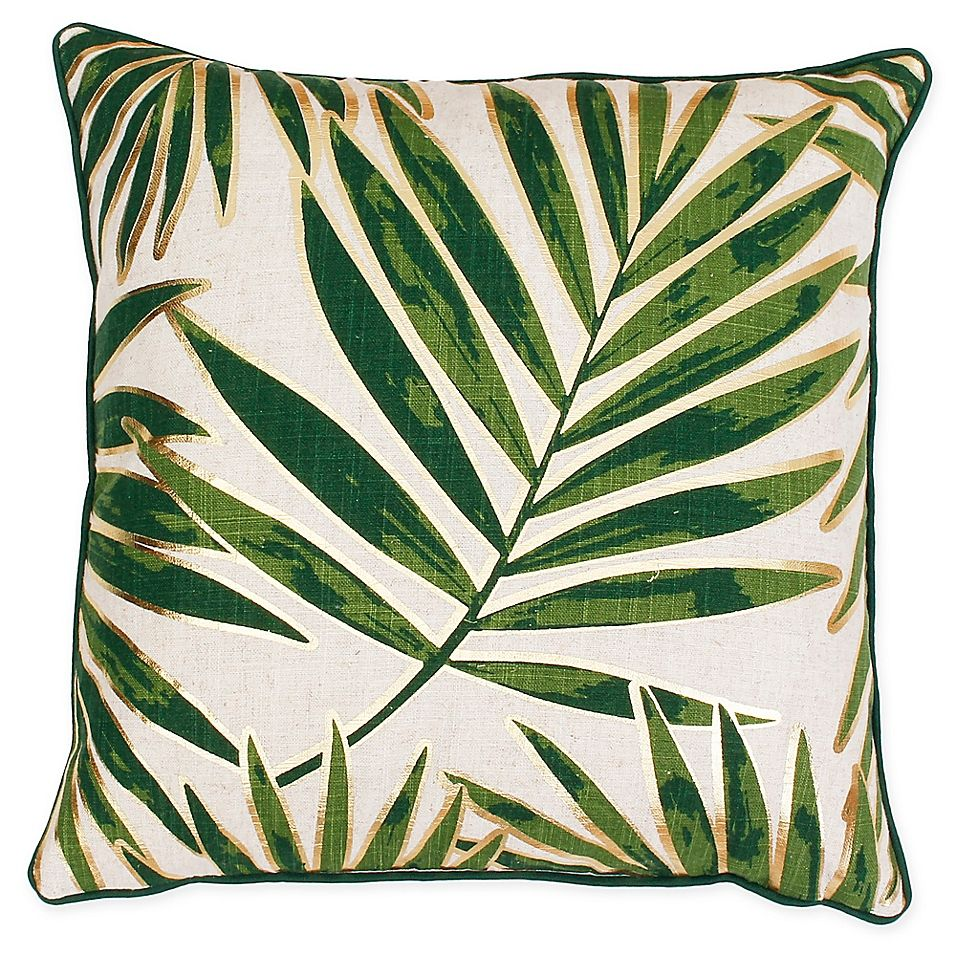 Remilly Leaf Square Throw Pillow