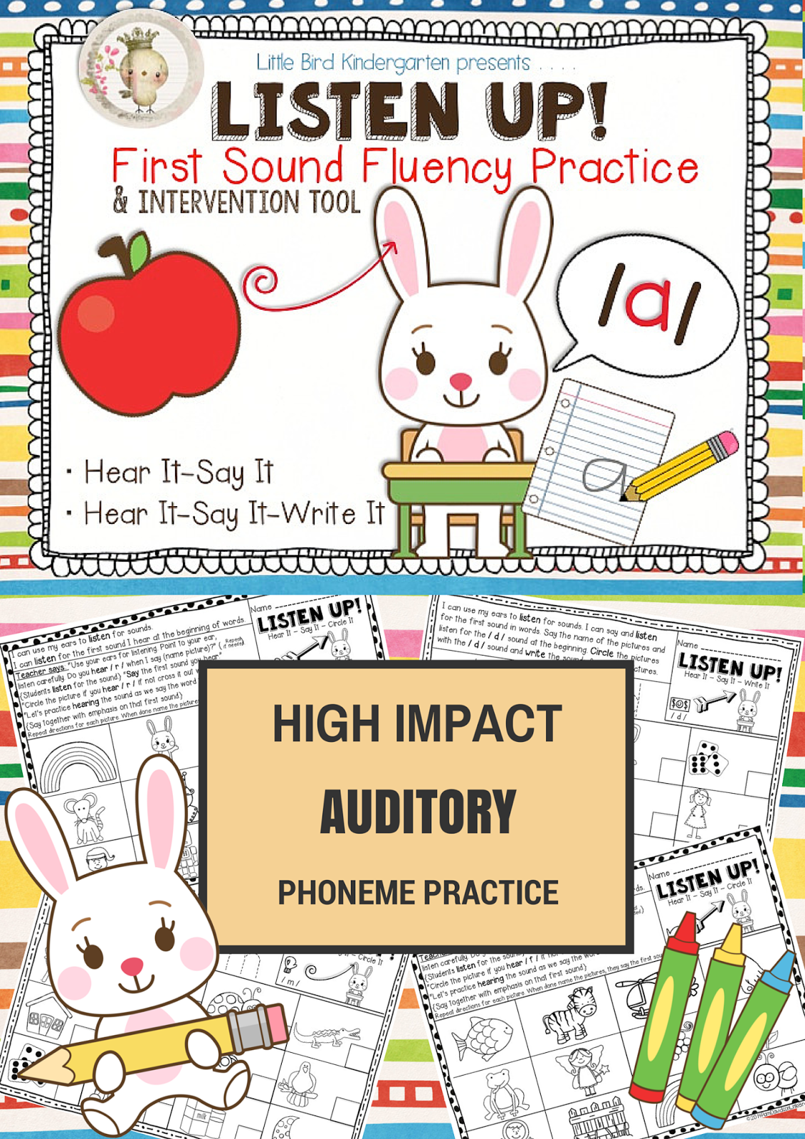 Listen Up First Sound Fluency Practice Rti Amp Dibels