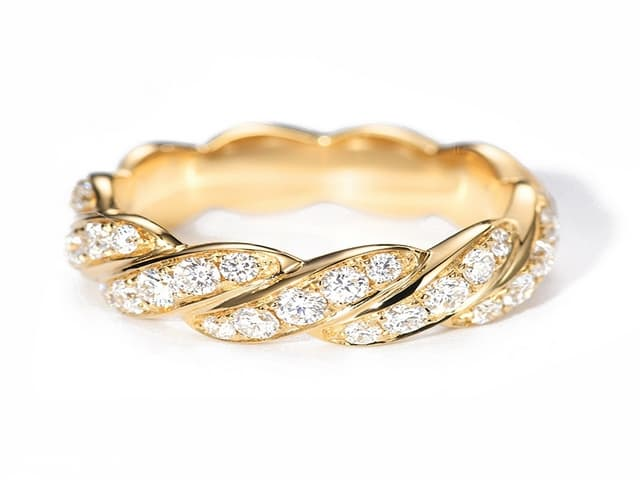 اجمل صور خواتم ذهب رقيقه جدا 2020 تجنن 14k Wedding Rings Wedding Rings Gold Rings Simple