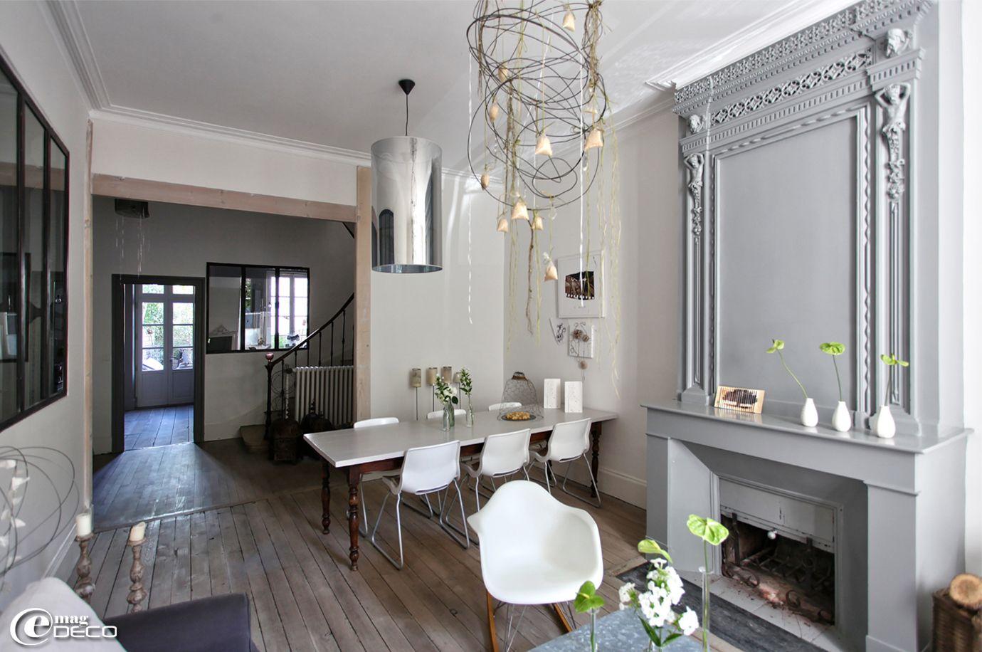 Salon-salle à manger d\'une maison à Agen décorée par Béatrice Loncle ...