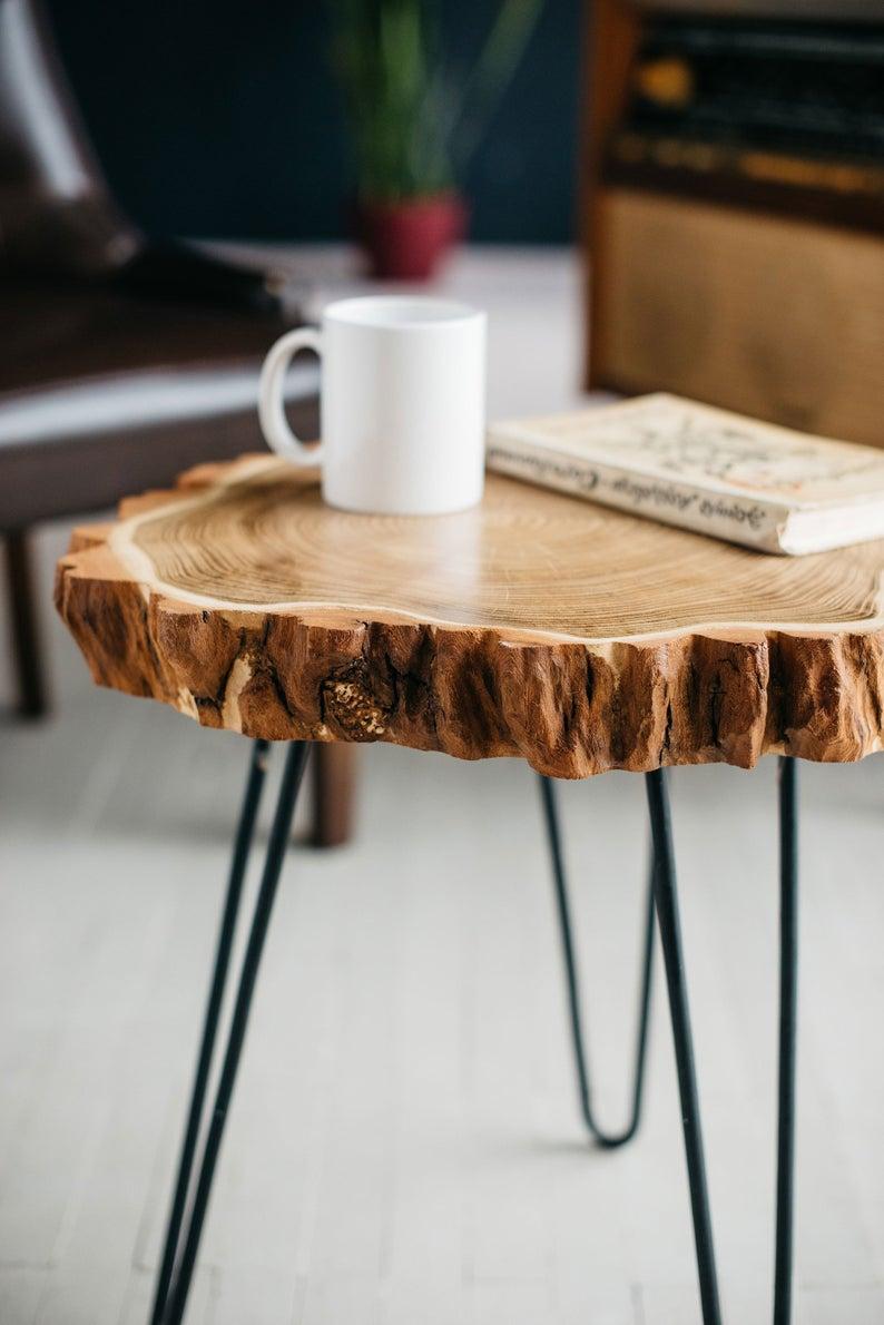 Wood Slab Coffee Table Live Edge Coffee Table Rustic Wood Etsy Rustic Coffee Tables Coffee Table Design Coffee Table Wood