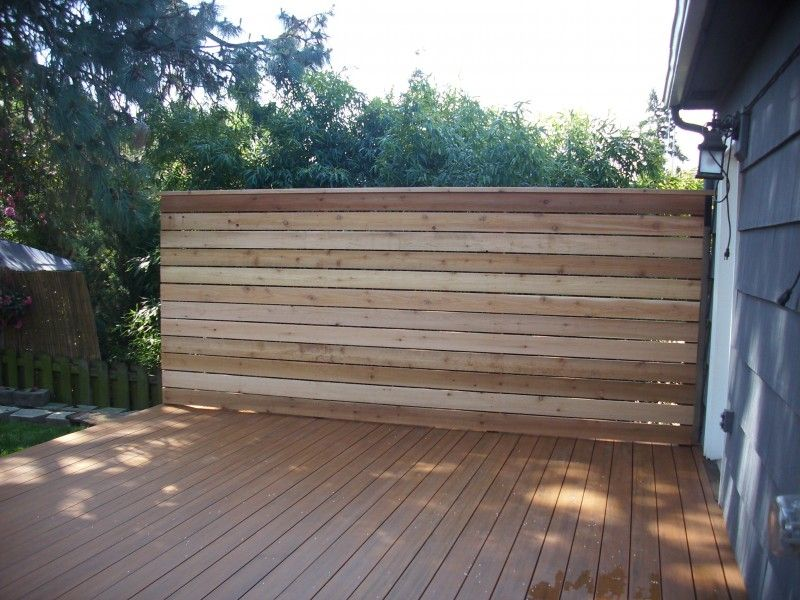 for Wood privacy screens for decks
