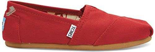 Toms Womens Classics Red Canvas 001001B07 RED Womens 8