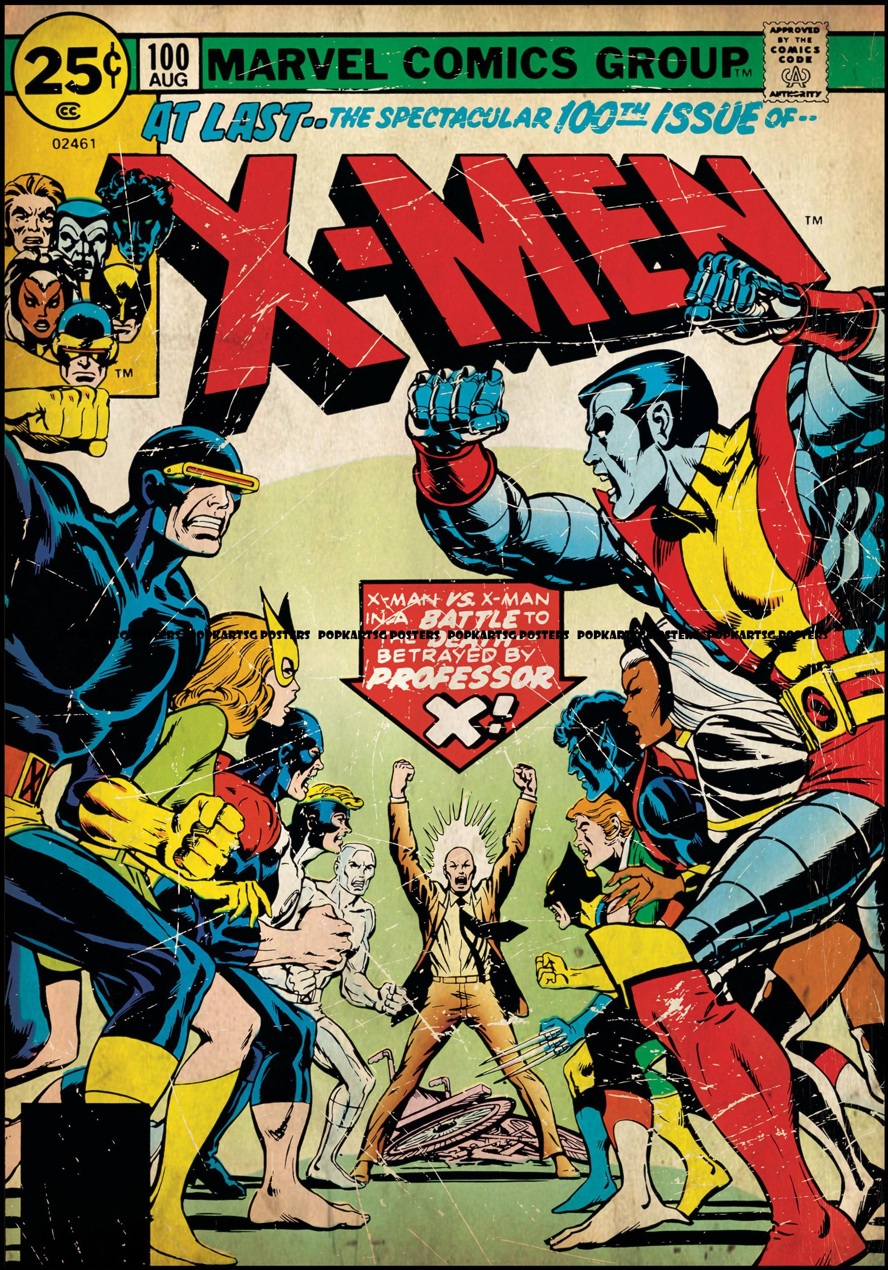 Classic comic cover art xmen the spectacular 100th issue