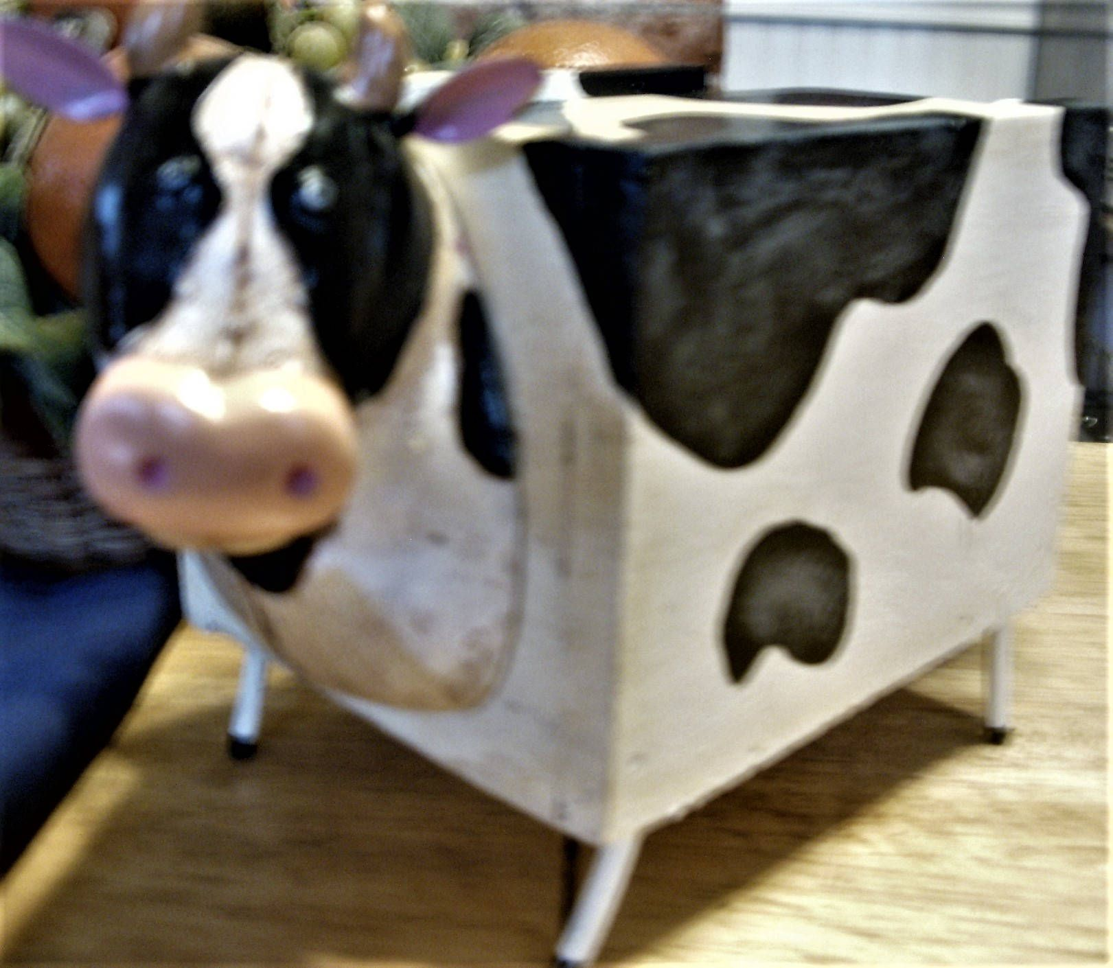 Cow Box Trinket Wood