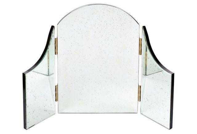 SO COOL.  Cinderella Wall Mirror, Antiqued