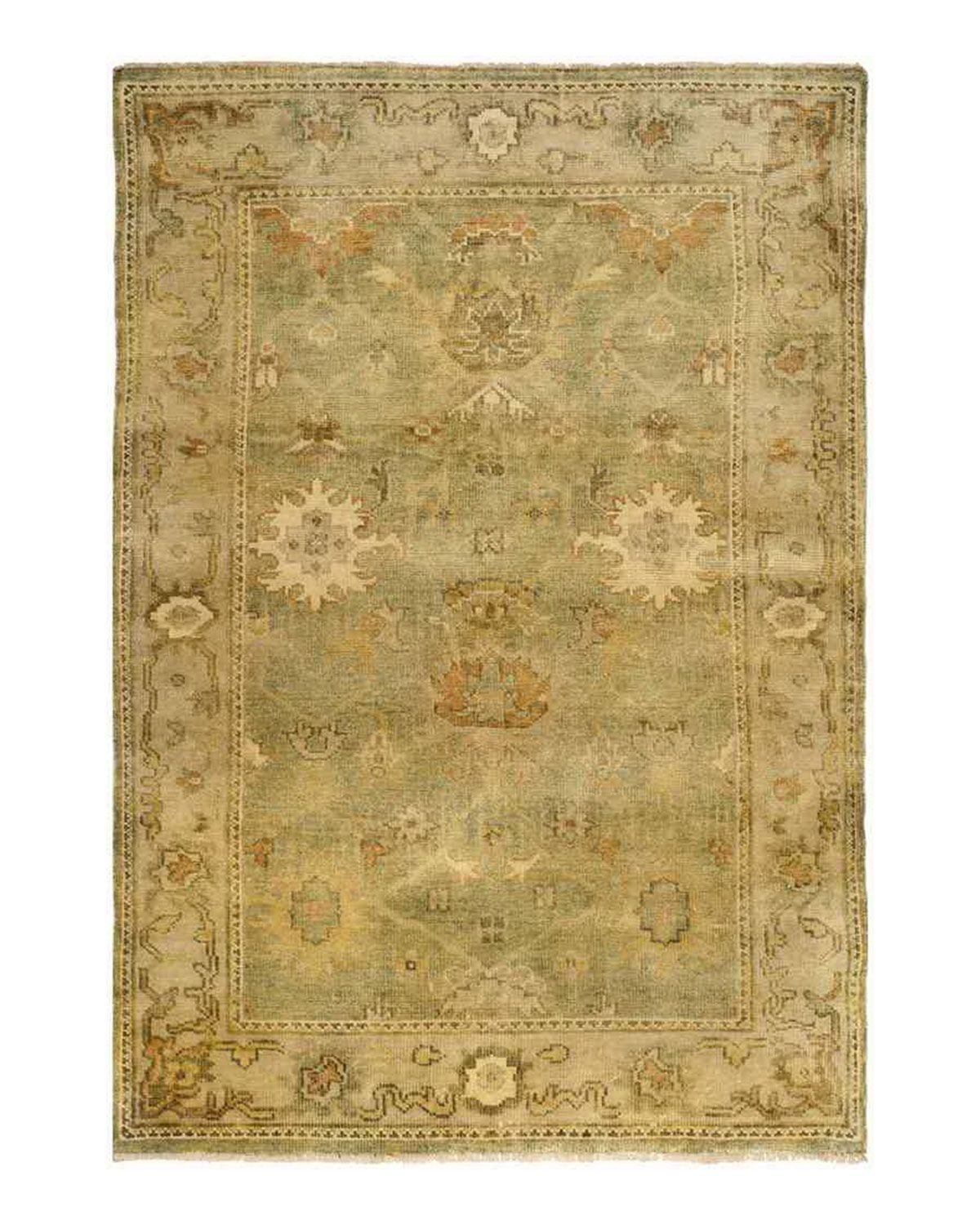 Valley Oushak Rug, 8' x 10', Sage Green/Beige