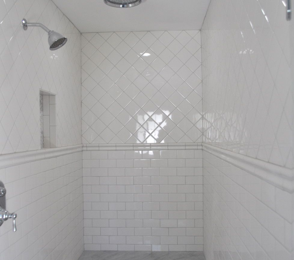 Super Cheap But Still Looks So Nice On · White Tile ShowerWhite ... Part 49
