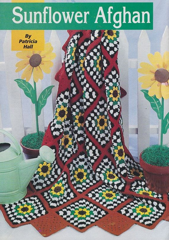 Crochet Sunflower Afghan Crochet Pattern | battaniyeler | Pinterest ...