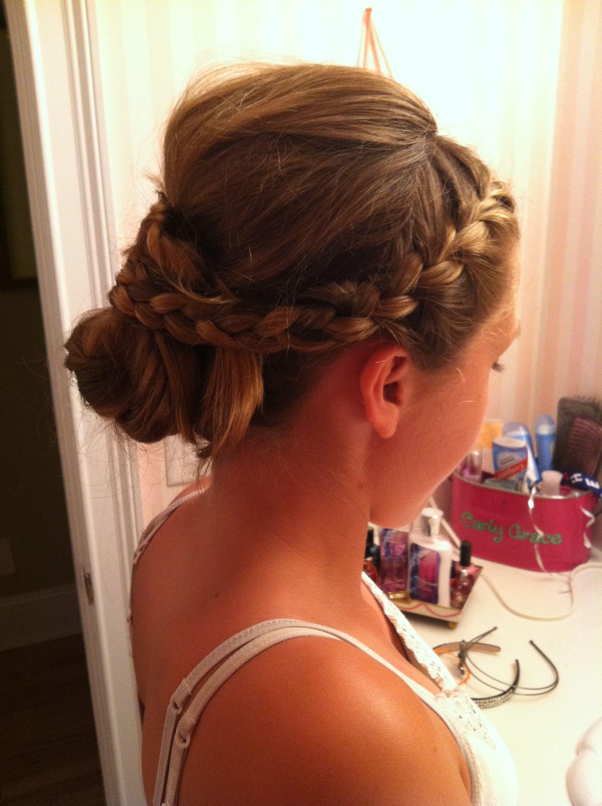 Flower girl hair i created for jessica mcdonaldus wedding vanessa