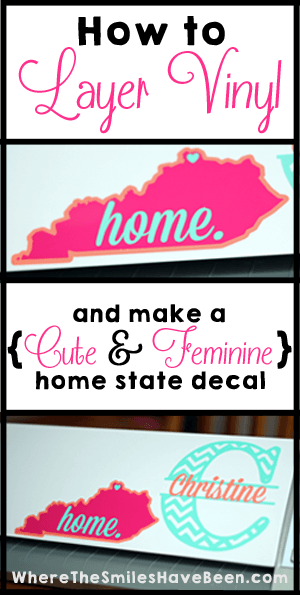 how to layer vinyl and make a home state decal zitate pinterest plotten vinyl und. Black Bedroom Furniture Sets. Home Design Ideas