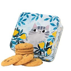 Cat Biscuit Tin Food gifts, Marzipan fruit