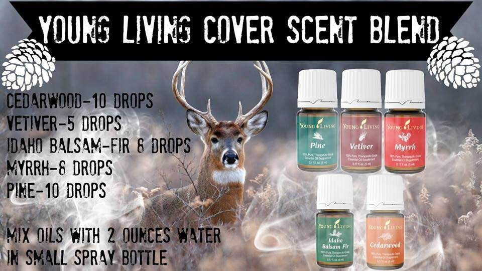 Dual purpose diy natural cover scent essential oil for