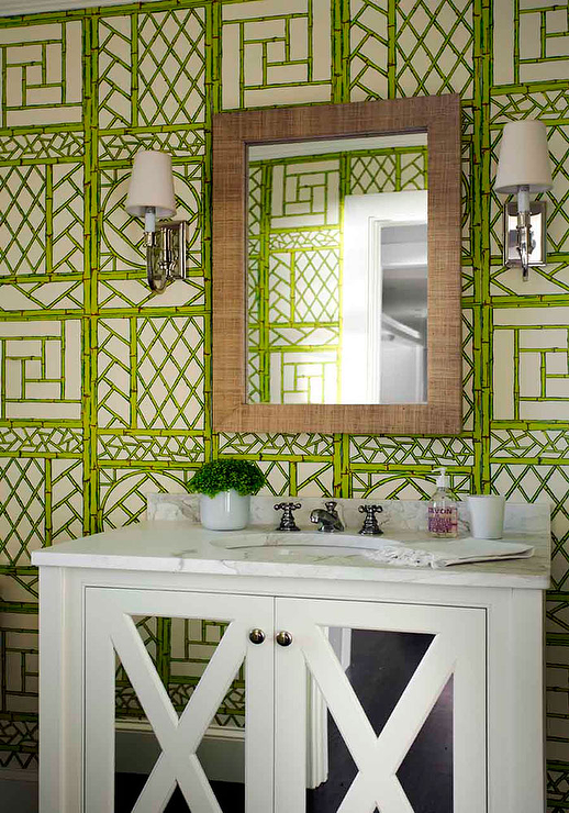 Quadrille Lyford Trellis Background Wallpaper Wallpaper