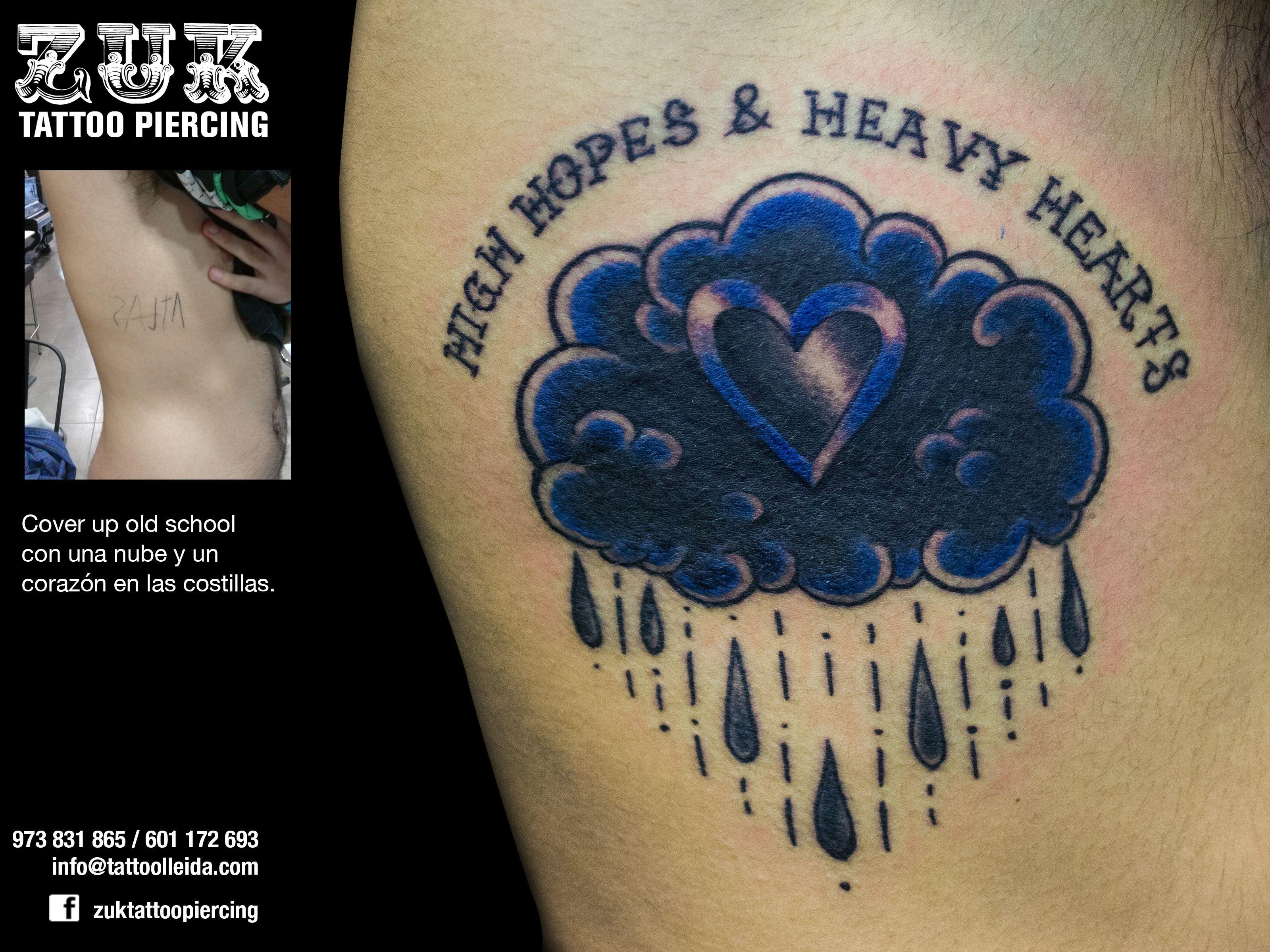Tattoo old school tatuaggi old school pin up significato e foto quotes - Cover Up Old School Con Una Nube Y Un Coraz N En Las Costillas