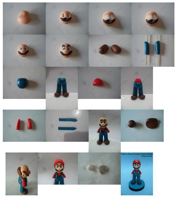 step by step Super Mario Topper