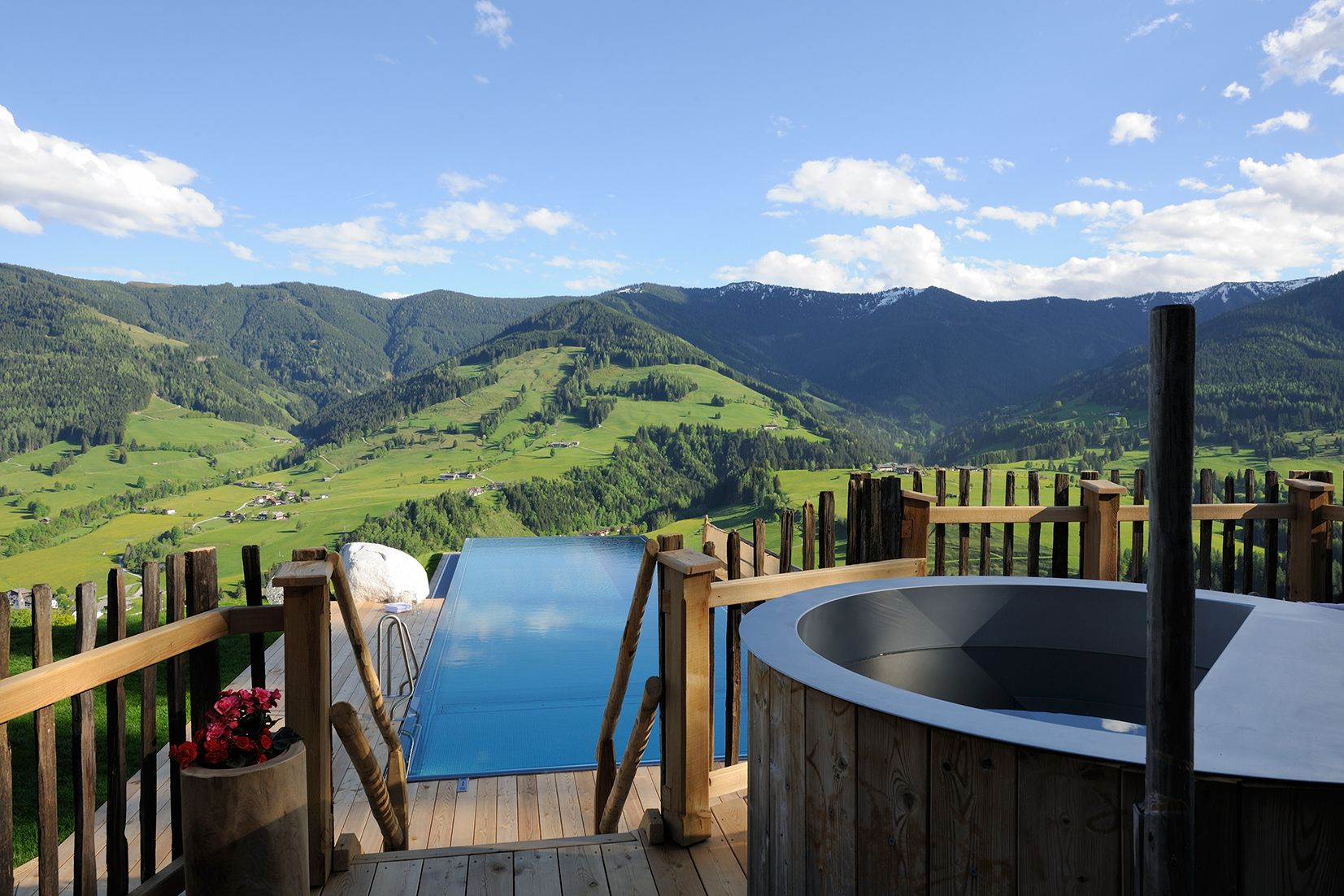 View from luxury chalet in Leogang, Bergdorf Priesteregg