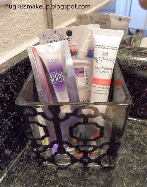 Great tip for a beauty girl!: Put free samples you get in a small container by your sink so you DON'T forget to use them!
