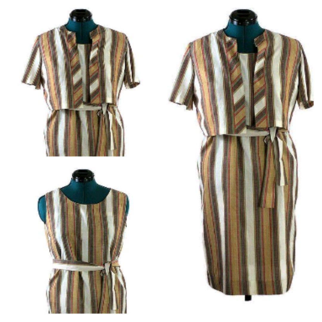 1960 Vintage Lane Bryant Dress With Jacket Sleevelessdress Linendress Justin Plussize Vintage Clothing Stores Vintage Clothing Online Lane Bryant Dresses