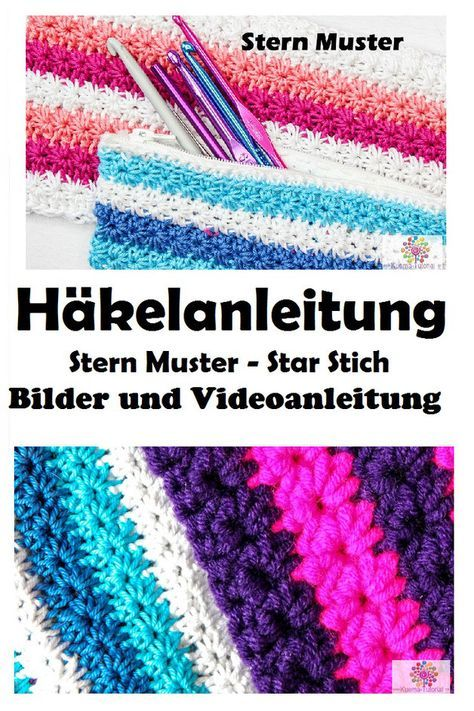 Häkeln lernen: Stern Muster / Star Stich Anfänger | Häkeln ...