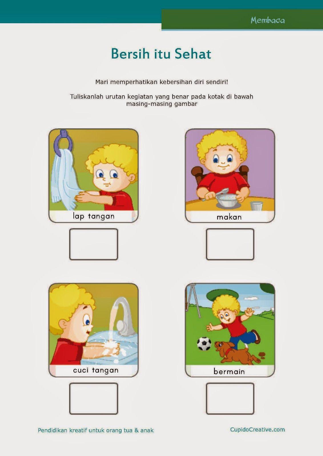 Worksheets Worksheet-belajar-membaca belajar membaca untuk sd kelas 1 kebersihan pribadi anak cuci tangan setelah bermain