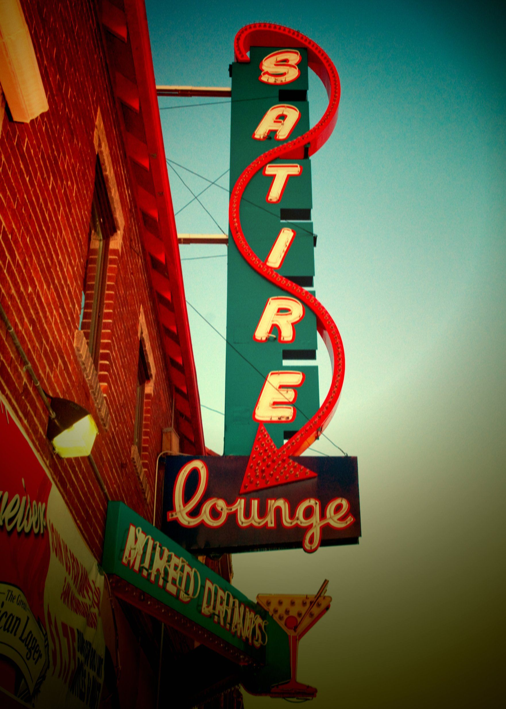Vintage Neon The Satire Lounge Found On East Colfax In Denver