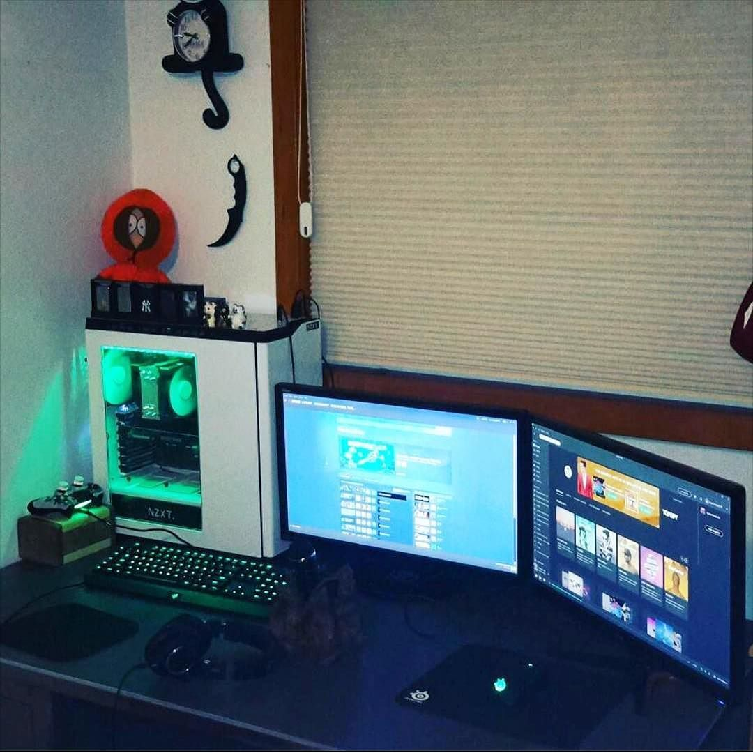 Gaming Mouse Green pc, Green led, Green led lights