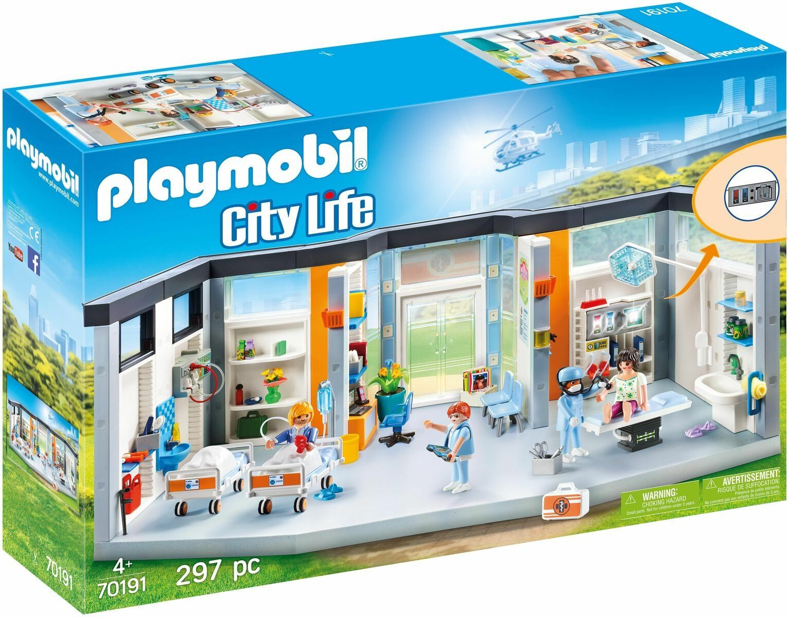 Buy Playmobil 70191 City Life Hospital Wing Playsets And Figures Argos In 2020 Playmobil City Life Baby Doll Nursery
