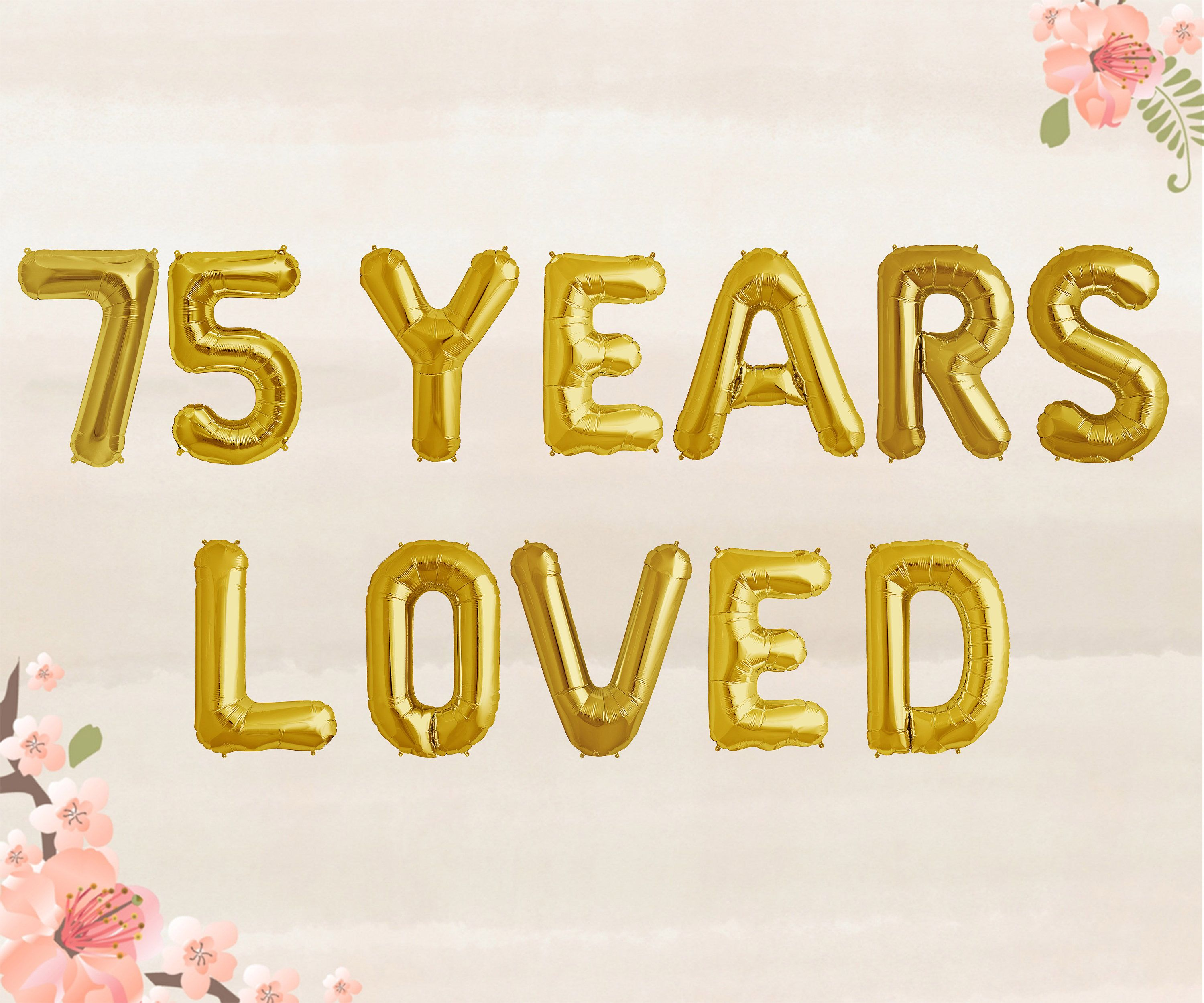 Years Loved Balloons  Th Birthday Party Decorations Jumbo