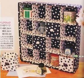 "=^.^= Gato de Sapato: Organizadores reciclando caixas ""longa vida"""