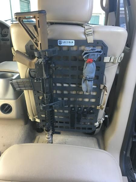 Rifle Mount Clamp For Rigid Molle Panel Vehicle Rifle