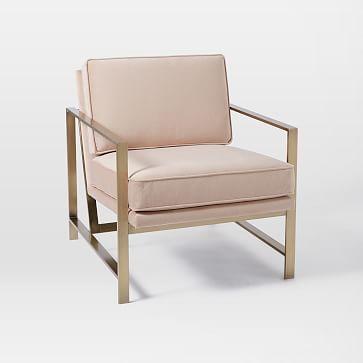 Metal Frame Upholstered Chair Metal Frame Upholstered Chair